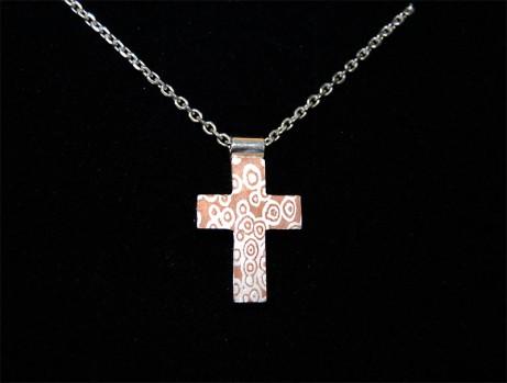 Mokume Gane Kreuz