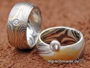 """Mokume Gane Ring """"Wilde Ehe"""""""