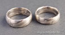 Mokume Gane Ring: Silber/Palladium