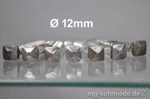 Geschmiedete Zierschraube (Vierkantkopf) 12mm